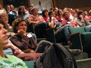 TLOV audience at a presentation