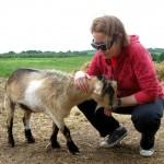 Clark (a goat) and Brita (a human)
