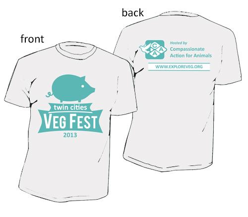 Twin Cities Veg Fest 2013 Shirt